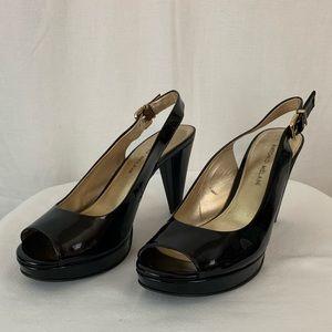 ANTONIO MELANI Shoes - Antonio Melani 9M Black Patent Peep Toe Pumps